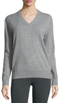 Joseph Cashmere V-Neck Pullover Sweater, Marble