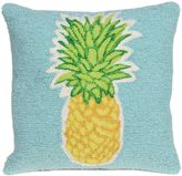 Liora Manné Frontporch Pineapple Square Indoor/Outdoor Throw Pillow in Aqua