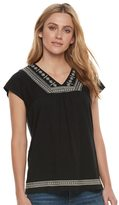 SONOMA Goods for Life Women's SONOMA Goods for LifeTM Embroidered Dolman Tee