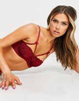 Thumbnail for your product : Pour Moi? Pour Moi hush underwire bra in ruby red