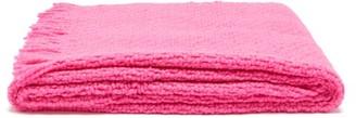 Aessai - Santa Fringed Merino Wool-blend Blanket - Pink