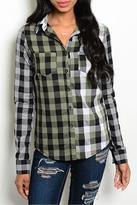 One Step Up Hailey Plaid Top