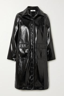 Frankie Shop Camille Textured-vinyl Coat - Black