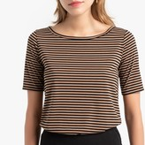 La Redoute Collections Striped Crew Neck T-Shirt with Short Sleeves