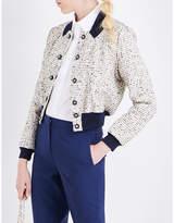 Mary Katrantzou Ladies Gold Tweed Bomber Jacket