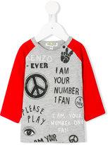 Kenzo peace print top
