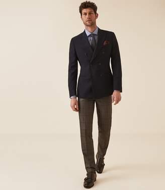 Reiss Remote Slim - Slim Fit Single Cuff Shirt in Mid Blue