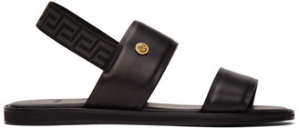 Versace Black Medusa Stud Sandals