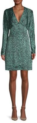 Equipment Rommily Printed Empire-Waist Dress