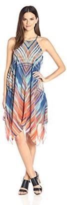 MSK Women's Ombre Woven Alternative Hem Dress