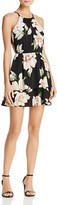 Aqua Tiered Floral Print Dress - 100% Exclusive