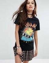 Boohoo Def Leppard Band T-Shirt