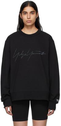 Y-3 Black Signature Graphic Sweatshirt