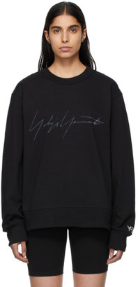 Y-3 Y 3 Black Signature Graphic Sweatshirt