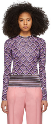 Paco Rabanne Purple Jacquard Stripes Top