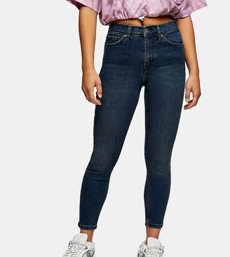 Topshop Petite Jamie jean in blue black