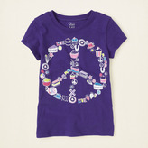 Children's Place Cupcake peace graphic tee