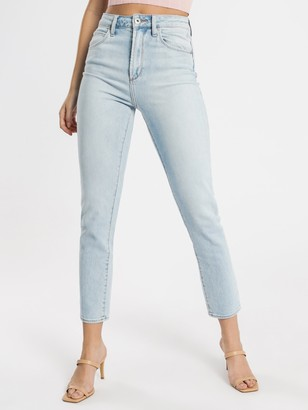 Articles of Society High Amy Mom Jeans in Light Blue Wash Denim