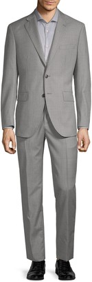 Saks Fifth Avenue Made In Italy Wool Stripe Suit