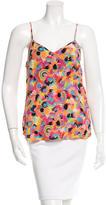 Tibi Floral Print Sleeveless Top