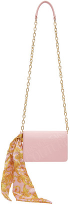 Versace Jeans Couture Pink Institutional Logo Scarf Crossbody Bag