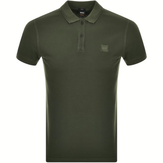 BOSS Prime Short Sleeved Polo T Shirt Khaki