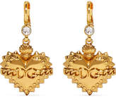 Dolce & Gabbana Gold-plated Crystal Earrings