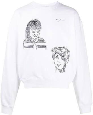 Off-White Little Girl Over crew neck sweatshirt