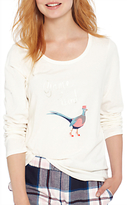 Joules Aubree Game Bird Pyjama Top, Ivory