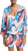 Vince Camuto Floral-Print Coverup Romper