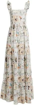 Agua Bendita Agua By Herbarium Floral Printed Linen Dress