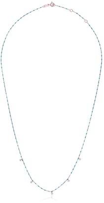 Gigi Clozeau 18kt rose gold mini Gigi diamond and turquoise beaded bracelet