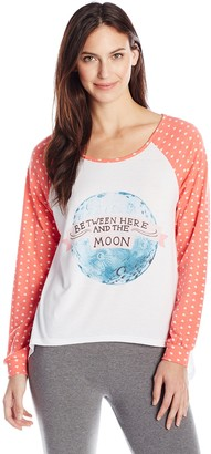 MinkPink Women's Land of Stars Long Sleeve Pajama Top