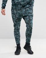 Nike Tech Fleece Camo Joggers In Green 823499-392