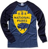 Hank Player 'National Parks' Men's Long Sleeve Baseball T-Shirt (XL, )