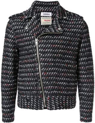 Coohem tweed biker jacket