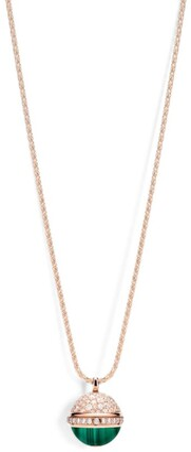 Piaget Rose Gold, Diamond and Malachite Possession Pendant Necklace