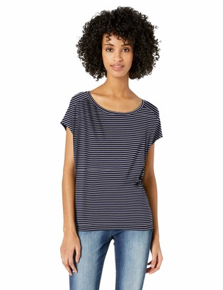Daily Ritual Women's Jersey Dolman Short-Sleeve Tie-Back Shirt