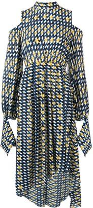 Rokh Cold Shoulder Asymmetric Dress