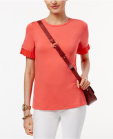 MICHAEL Michael Kors Pleated-Sleeve Top