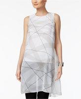 Alfani Illusion-Overlay Tunic Top, Created for Macy's