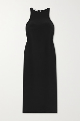LA COLLECTION Naomi Silk Midi Dress - Black