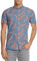 Barney Cools Lobster Chambray Slim Fit Button-Down Shirt