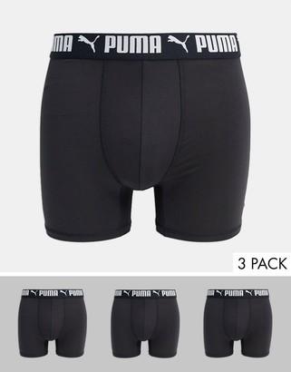 Puma 3 pack boxer briefs in black