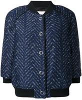 3.1 Phillip Lim three-quarter sleeve bomber jacket - women - Cork/Polyester/Viscose - 4