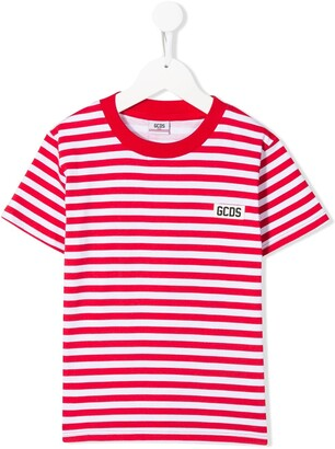 Gcds Kids striped T-shirt