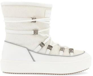 Chiara Ferragni Glittered Effect Winking Eye Applique Detail Ankle Snow Boots