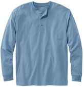 L.L.Bean Men's Carefree Unshrinkable Tee, Traditional Fit, Long Sleeve Henley