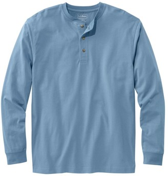 L.L. Bean Men's Carefree Unshrinkable Tee, Traditional Fit, Long-Sleeve Henley