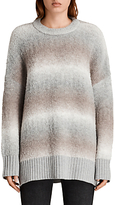 AllSaints Ikarus Crew Neck Jumper, Taupe Marl